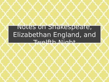 Twelfth Night Shakespeare Introduction Slideshow