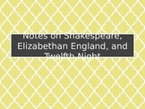 Shakespeare & Twelfth Night Introduction Slideshow
