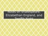 Shakespeare & Twelfth Night Introduction Slideshow