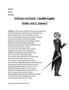 Twelfth Night: Soliloquy Analysis- Viola