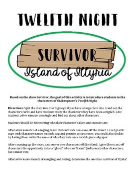 Twelfth Night Characters Survivor Game