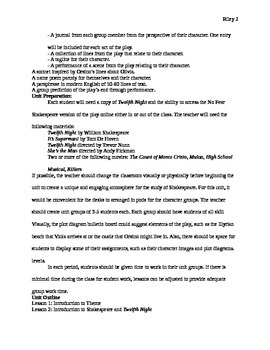 Twelfth Night Unit Plan