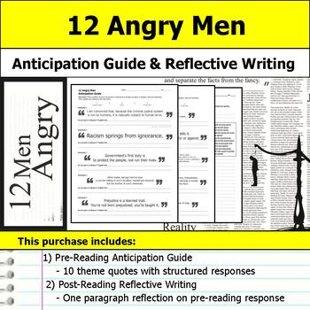12 Angry Men - Anticipation Guide & Written Reflection