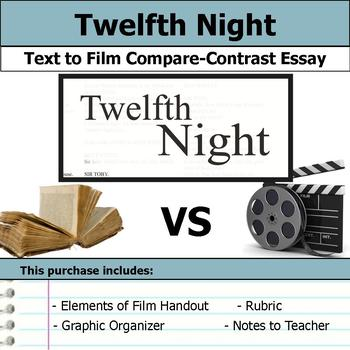 Twelfth Night by William Shakespeare - Text to Film Essay Bundle