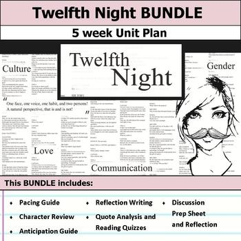 Twelfth Night by William Shakespeare Unit Bundle