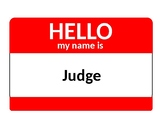 Twelve Angry Men: Character Name Tags