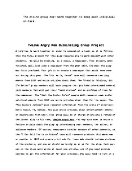 Twelve Angry Men Cooperating Learning Project