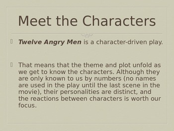 Twelve Angry Men Introduction PowerPoint