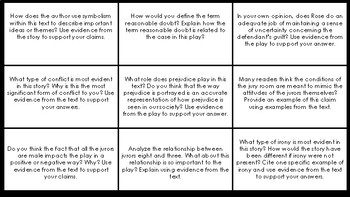 Twelve Angry Men: Tic Tac Toe Mastery Assessment