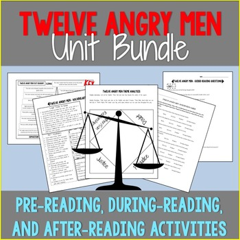 Twelve Angry Men Unit Bundle