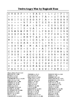 Twelve Angry Men - Word Search Puzzle