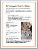 Twelve Angry Men for Dinner - creative writing