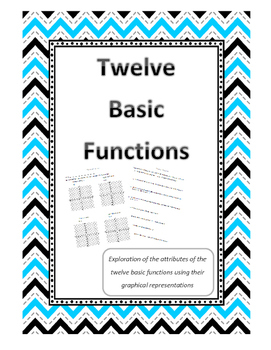 Twelve Basic Functions Graphs Activity