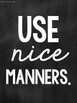Twelve Chalkboard Themed Posters for Classroom Rules