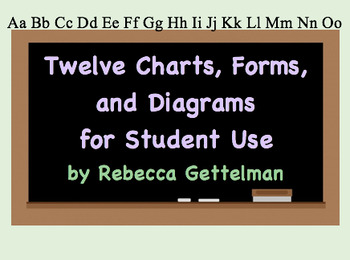 Twelve Charts, Forms, and Diagrams Including KWL, Venn, & Note-Taking