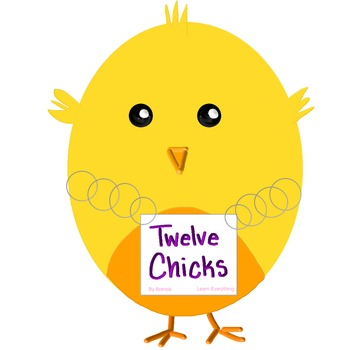 Twelve Chicks Clipart