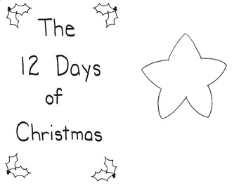 Twelve Days: A Christmas Countdown coloring worksheets