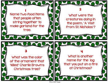 Twelve Days Before Christmas Trivia Cards Set 2