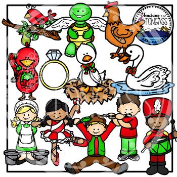 Twelve Days of Christmas Clipart