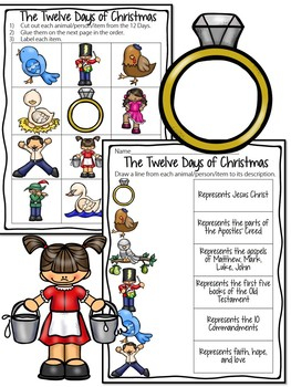 Twelve Days of Christmas Coloring Book, Reading Comprehension, Activity