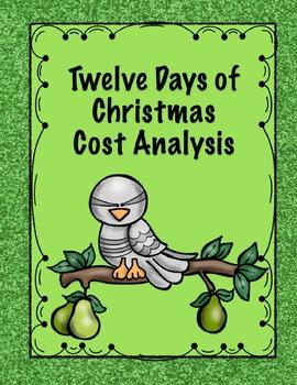 Twelve Days of Christmas Cost Analysis - Math