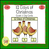 Twelve Days of Christmas Clip Task Cards