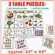 Twelve Days of Christmas Math Puzzles - ENGLISH (Floor Puzzle & Table Puzzles)