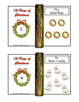 Twelve Days of Christmas Posters and Mini Fold-Ems