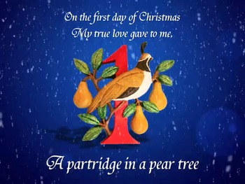 Twelve Days of Christmas PowerPoint with Instrumental Track and Video