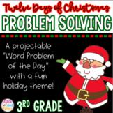 Christmas Math Problem Solving: 3rd Grade