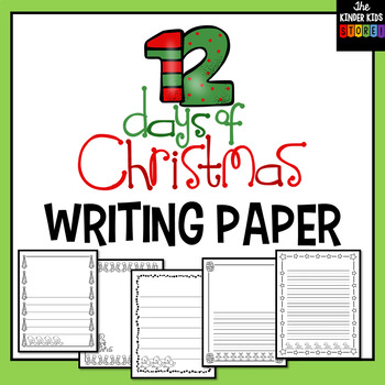 Twelve Days of Christmas Writing Pages