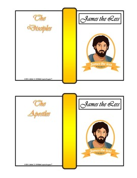 Twelve Disciples of Jesus Christ Mini Fold-Ems and Word Wall