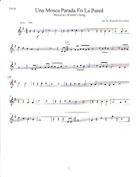Twelve Mexican Children's Songs Arranged for Mariachi - Violin Book