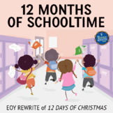 End of the Year Song Lyrics for 12 Days of Christmas