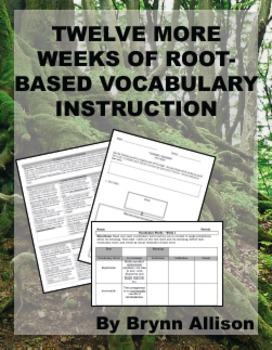 Root Based Vocabulary Instruction, 12+ More Weeks of Lessons