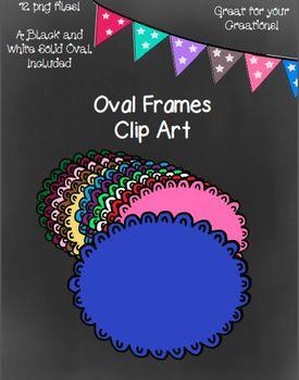 Twelve Oval Frames