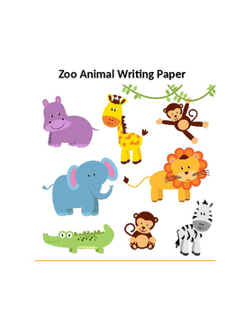 Twelve Pages of Zoo Animal Writing Paper