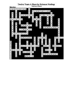 Twelve Years A Slave - Vocabulary Crossword