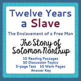 Black History Slavery Twelve 12 Years a Slave DISTANCE LEARNING