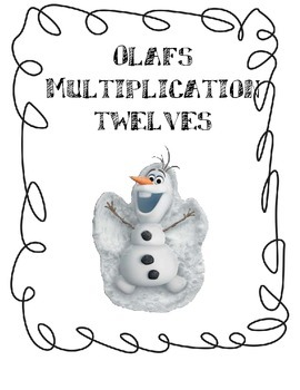 Twelves (12) Multiplication Game with Olaf