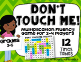 Twelves Times Tables: Don't Touch Me! Multiplication Fact Fluency Game