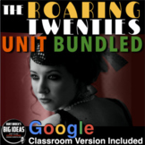 1920s Unit (Roaring 20s) PPTs, Worksheets,  Plans, Test +