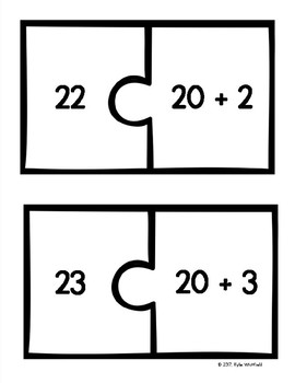 Twenties Expanded Form Puzzles
