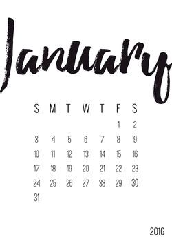 Twenty 16 | Semester Countdown Calendar
