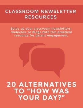 "Classroom Newsletter Resource: Twenty Alternatives to ""How"