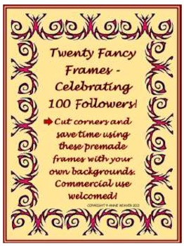 Twenty Fancy Frames for $1.00 - Celebrating 100 Followers!