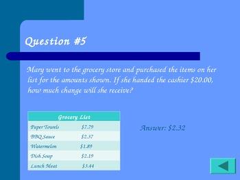Twenty-Five Alive Mixed Math Review Activity