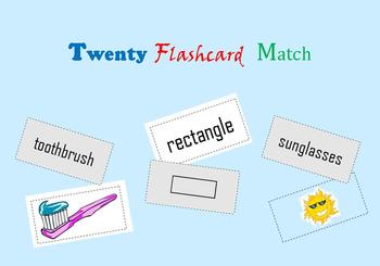 Twenty Flashcard Match