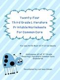 Twenty-Four Third Grade Literature Printable Worksheets fo