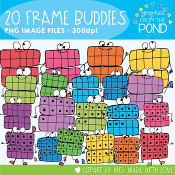 Twenty Frame Buddies - Fun Twenty Frames Clip Art